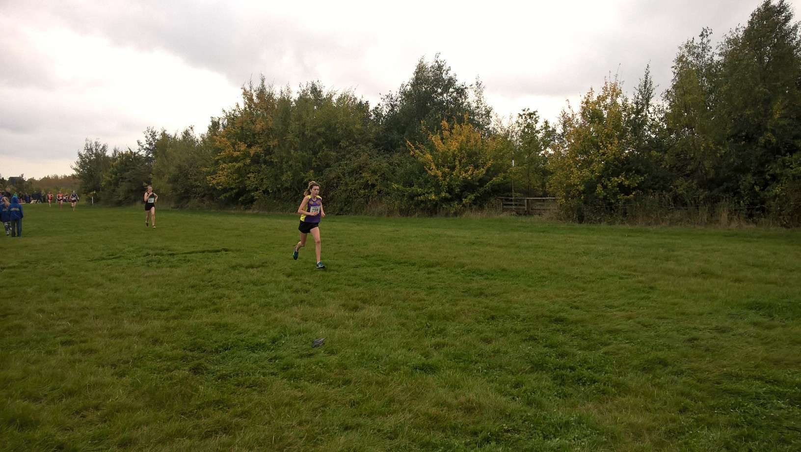 Megan finishing strongly for the U17 women