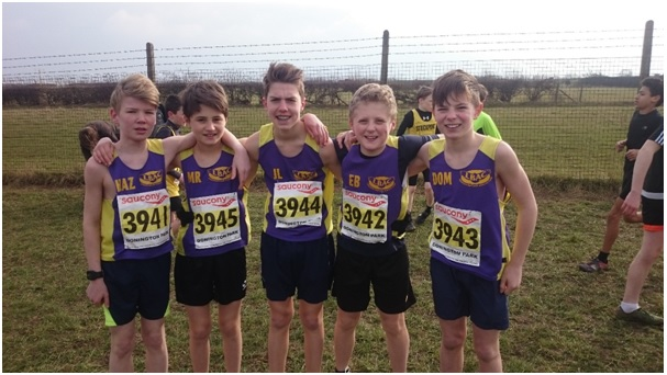 U13 boys team – from left to right, Harry Bell, Max Rose, Owen Lindars, Ewan Bell and Dominic Grimshaw