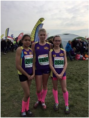 U15 girls - from left to right, Mckeena Keefe, Evie Gilmour and Dana Carter